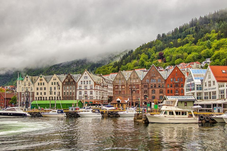 Norge, Bergen, Liggande, Arkitektur, Turism