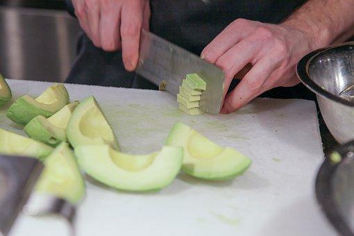 Abacate, Cozinheiro Chefe, Faca, Cozinha