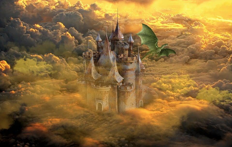 Dragon, Castle, Fantasy, Magic, Mystical, Fairytale