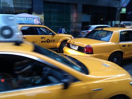 Yellow Cab, Taxi, New York, Manhattan