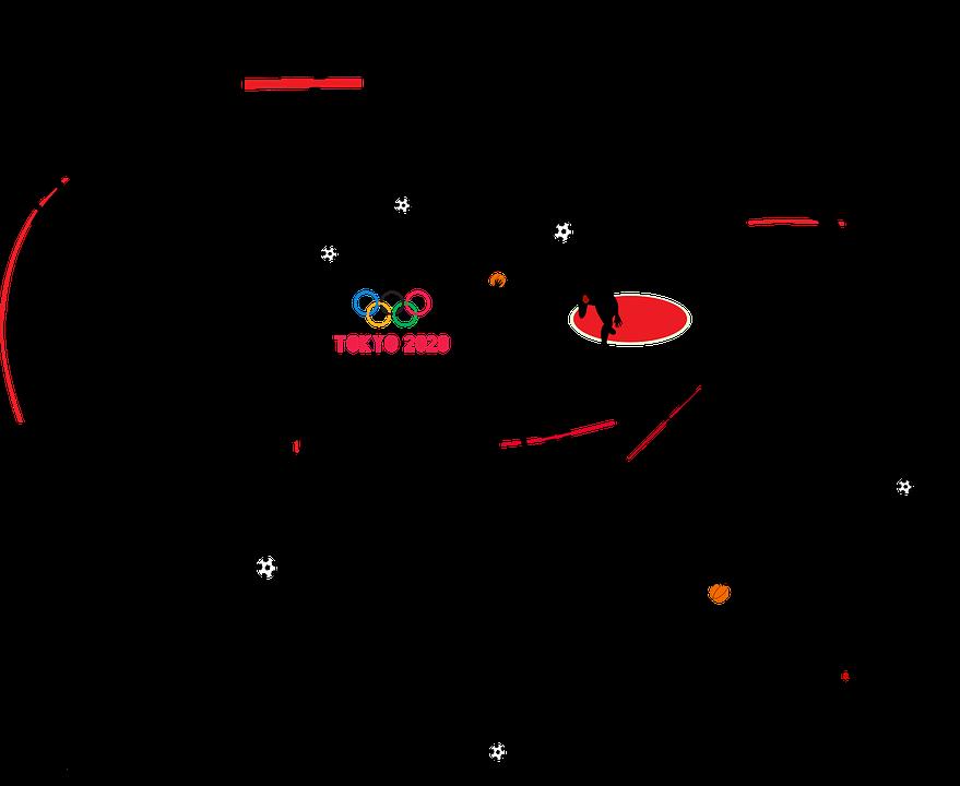 東京オリンピック, シルエット, 2020, スポーツ, 体操, フィットネス, 男, オリンピック大会