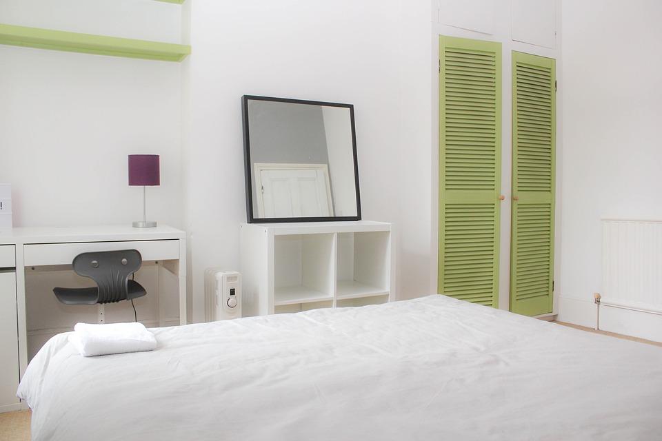 Bedroom Mirror Green Doors - Free photo on Pixabay