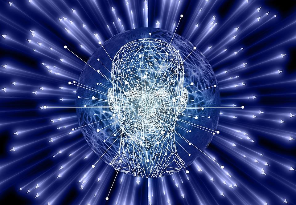 Tvář, Člověk, Mnohoúhelníky, Síť, Výbuch, Mozek, Umělý