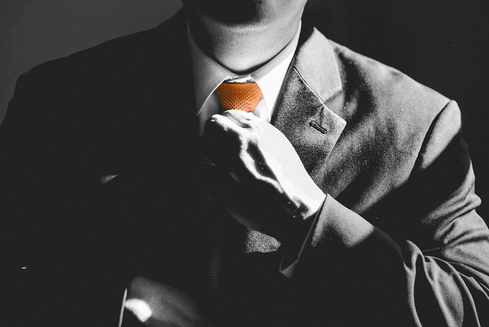 Negocio, Hombre, Corbata, Orange, Empresario, Éxito