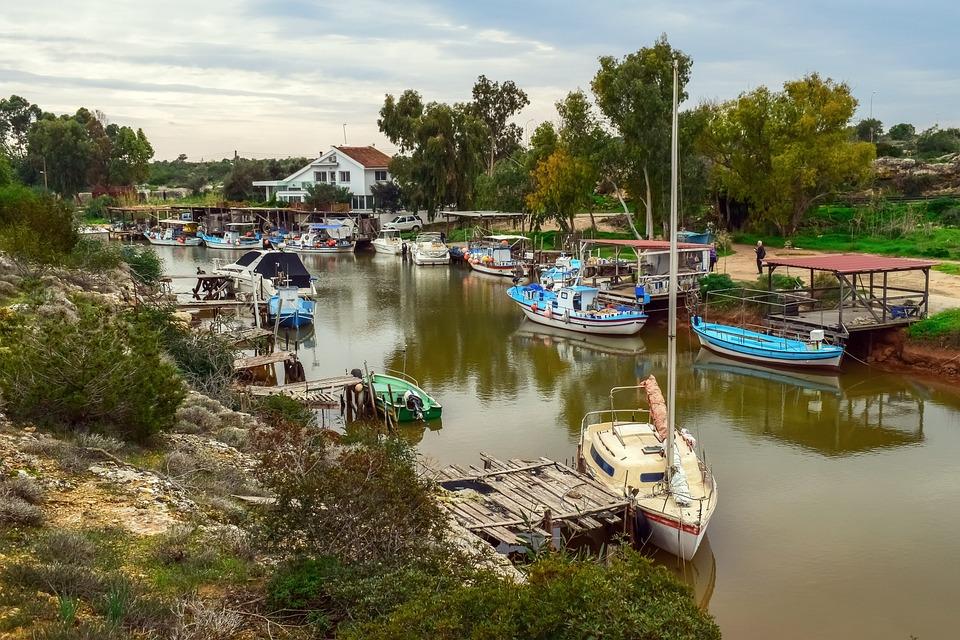 Fishing Boats, Dock, Fishing Shelter, Reflections