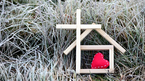 Haus, Gemeinde, Kirche, Kälte, Wärme