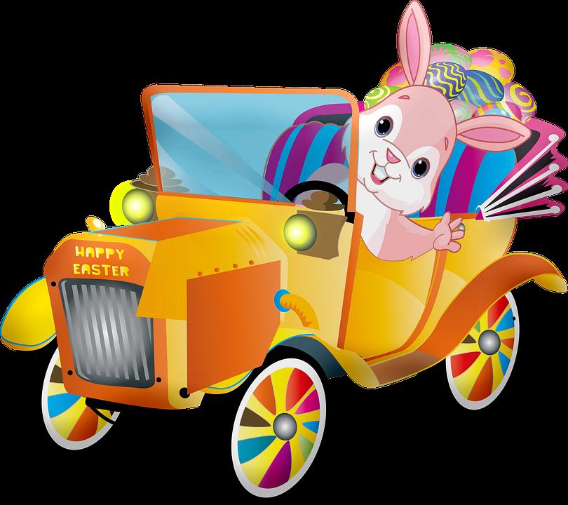 Wielkanoc Samochodów, Królik, Jaj, Vintage Wielkanoc
