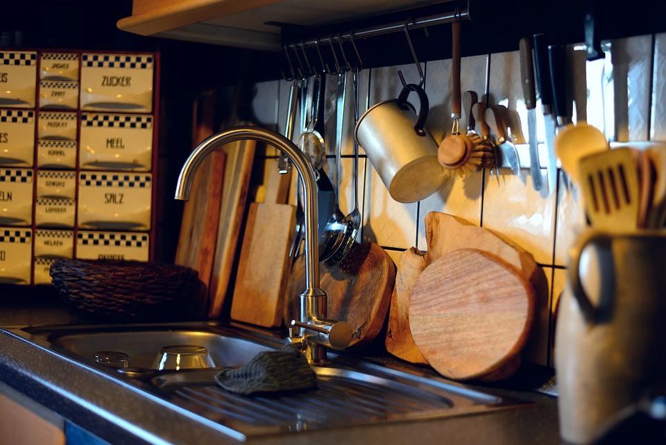 Kitchen, Kitchen Utensils, Sink, Wooden Boards