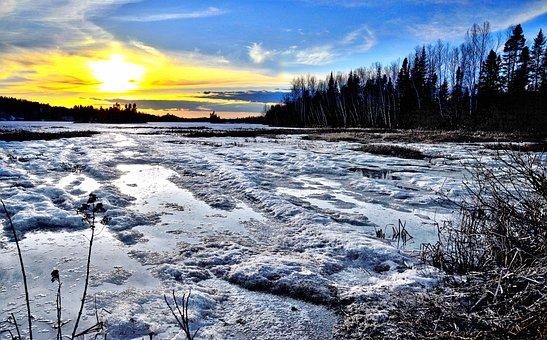 Landscape, Nature, Snow, Ice, Sky