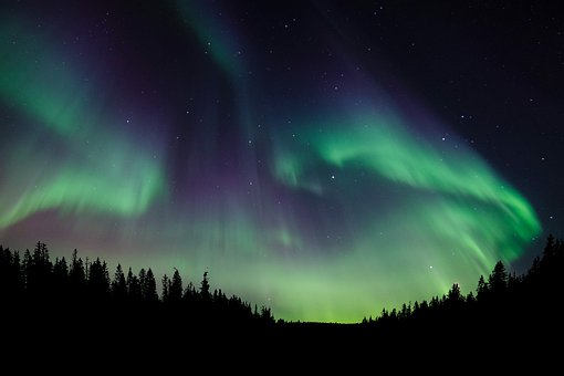 The northern lights, or aurora borealis