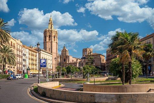 Valencia, L'Espace, Fontaine, Piazza
