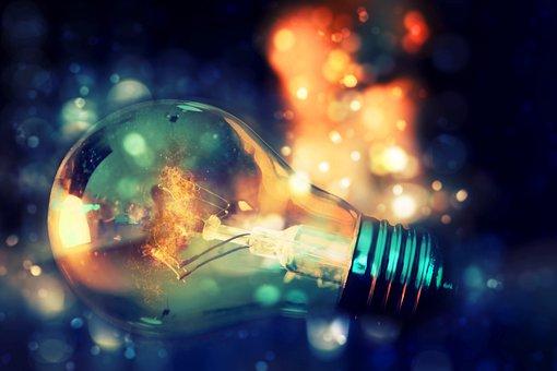 Light Bulb, Bokeh, Flame, Fire, Lights