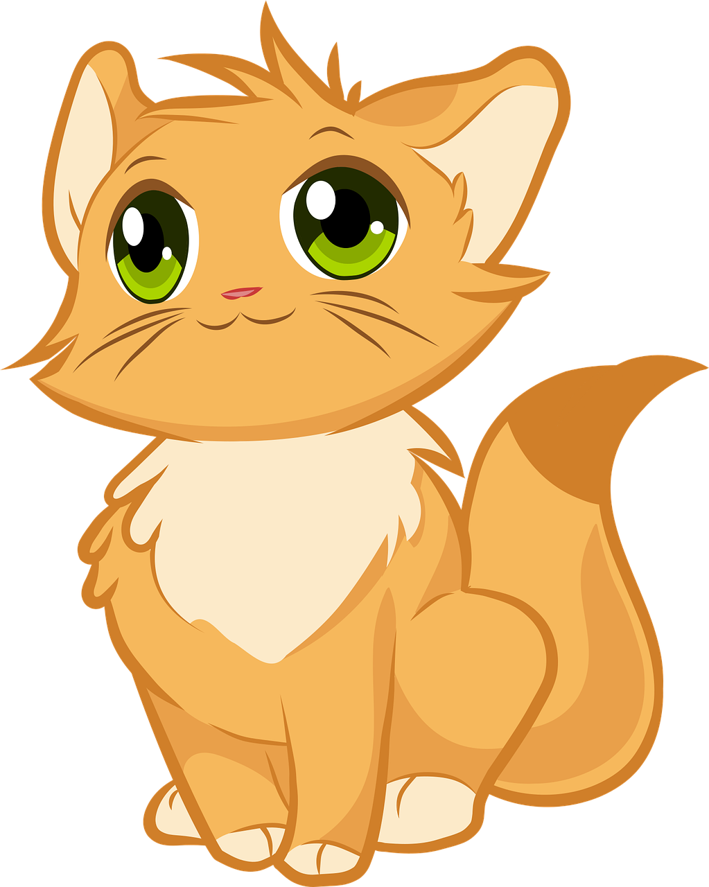 Kitten Cute Cat Free Vector Graphic On Pixabay