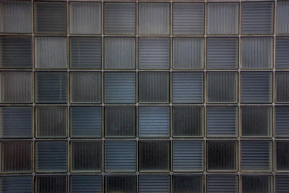 背景, ガラスのタイル, 正方形, パターン, テクスチャ, 壁紙, 灰色の背景, グレーの質感