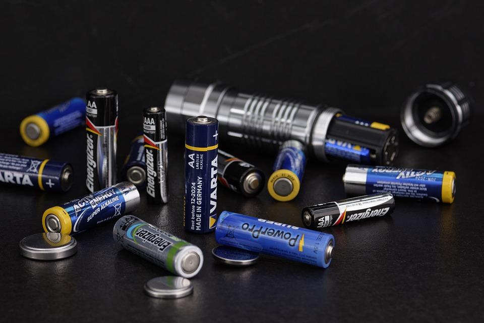 Baterii, Energii, Prąd, Latarka, Алкалическ, Lampa