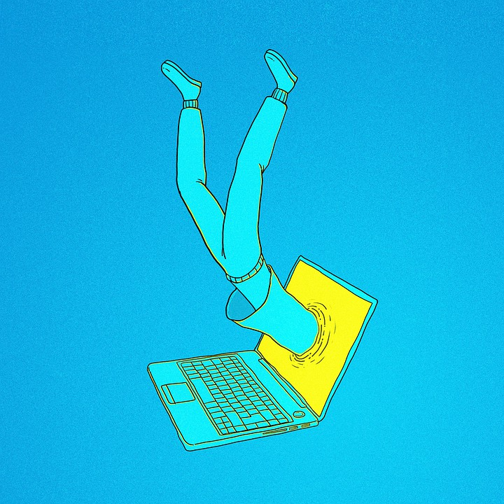 Connection, Imagination, Cartoon, Laptop, Computer