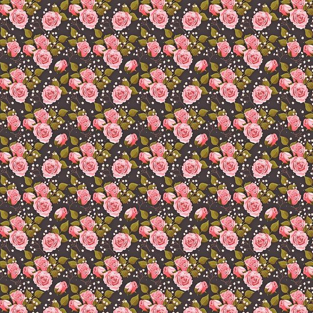 Floral Digital Paper Flower Free Image On Pixabay