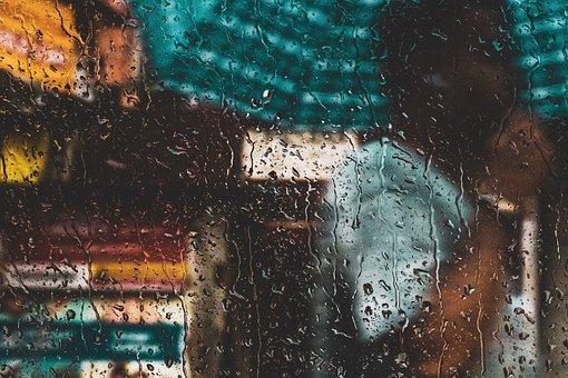 Regn, Våd, Vand, Drop, Vindue, Natur