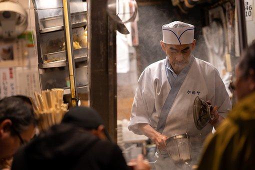 シェフ, 料理, 通り, 衣装係, レストラン, 日本, 東京, 食品, 新宿