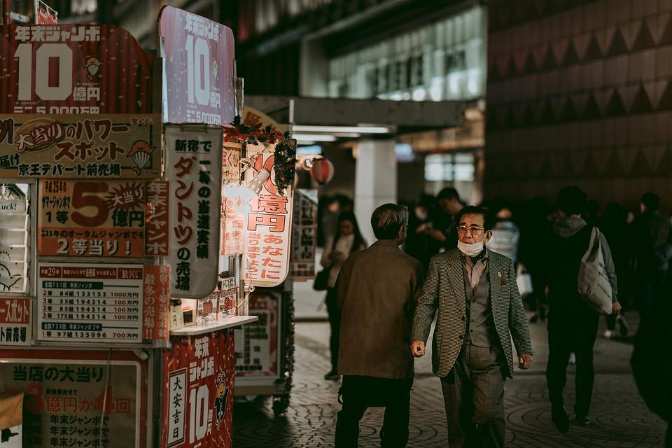 Calle, Shinjuku, Noche, La Vida, Multitud, Personas