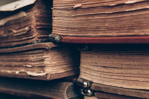 Buku, Lama, Antik, Sastra, Perpustakaan