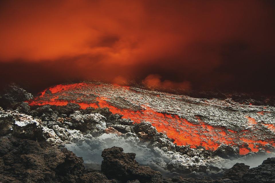 Volcano, Eruption, Lava, Smoke, Rocks, Nature, Ash