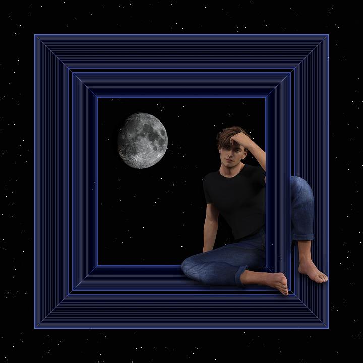 Laki Laki, Fantasi, Hanya, Bijaksana, Dimensi, Bulan