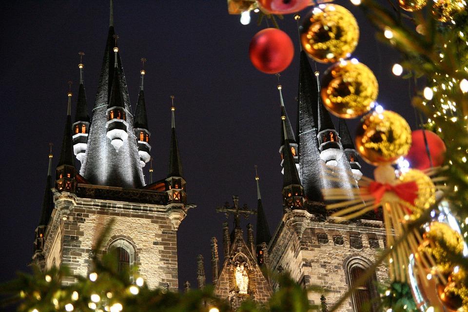 Navidad, Praga, Iglesia, Invierno, República Checa