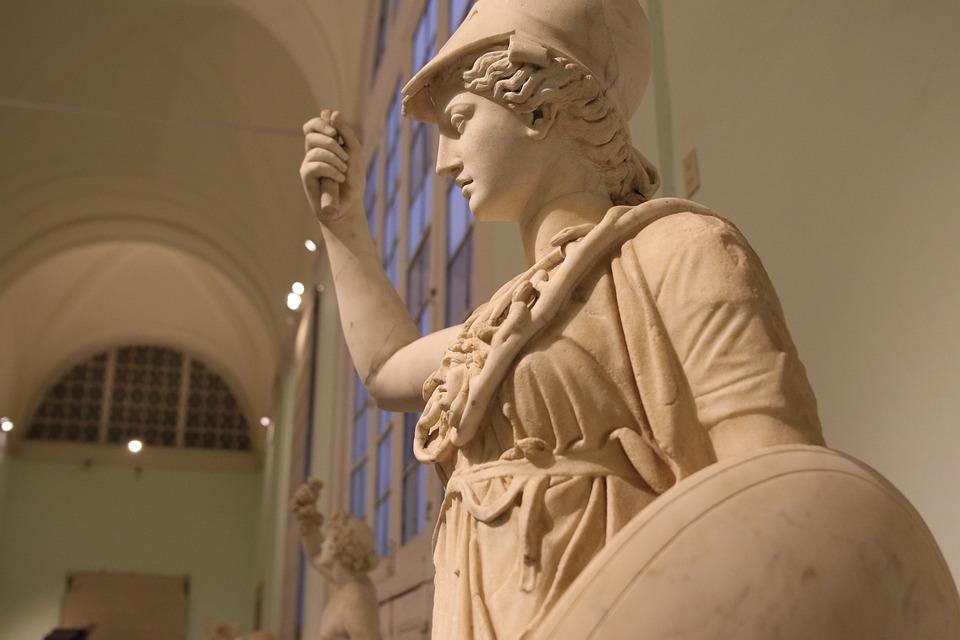 Athena, Goddess, Wisdom, Courage, Inspiration, Naples