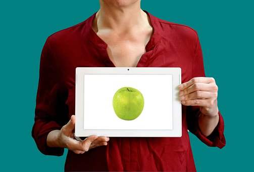 Diet, Apple, Woman, Sign, Healthy, Food