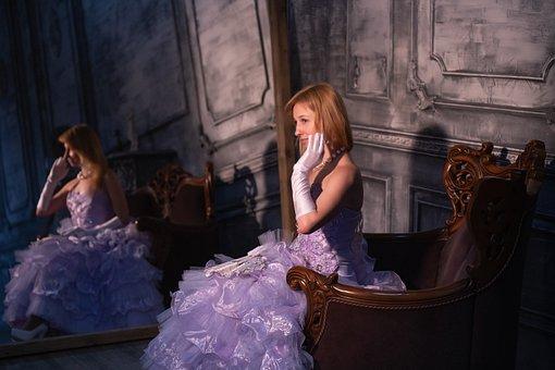 Ball, Rose, Young Woman, A Princess
