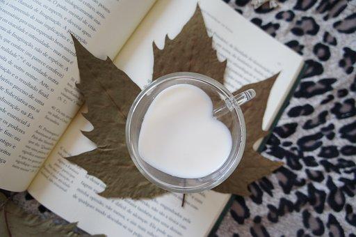 Milk, Book, Autumn, Animal Print, Cup