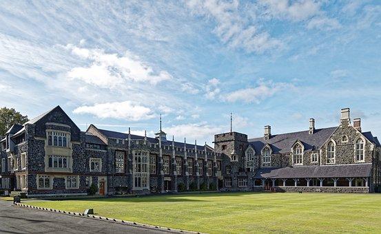 ニュージーランド, クライストチャーチ, キリスト教, 大学, 学校, 建物