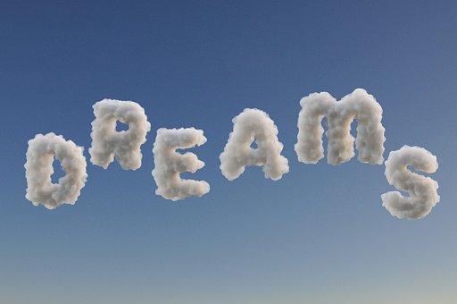 夢, 雲, 睡眠, テキスト, ファンタジー, 想像力, リラックス, 魔法