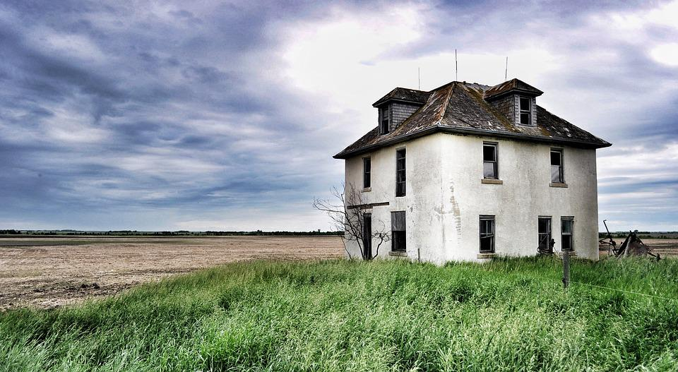 House, Deserted, Abandoned, Old, Landscape, Prairies