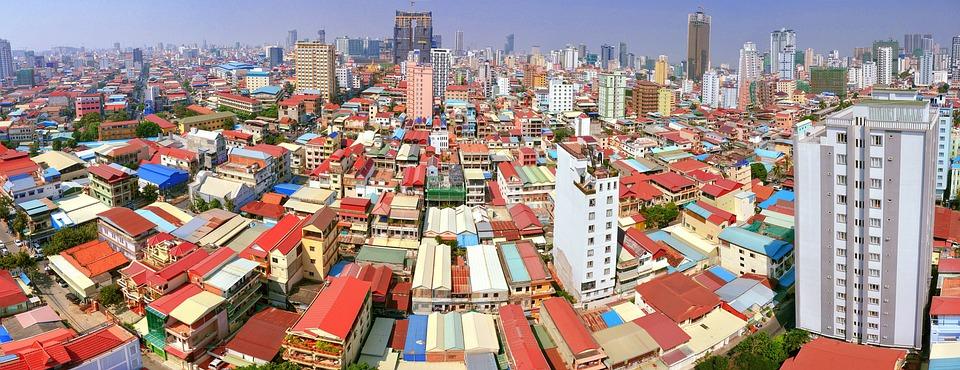 Zentrum, Kambodscha, Penh, Phnom, Panorama