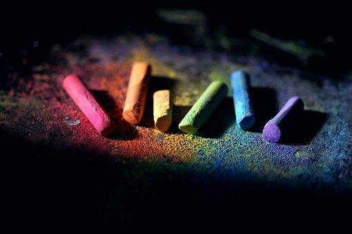 Chalk, Colorful, Dust, School, Supply