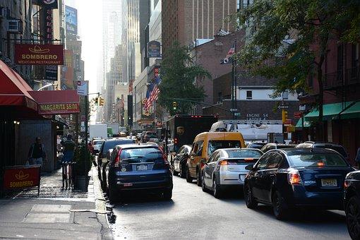 traffic jam, car, urban
