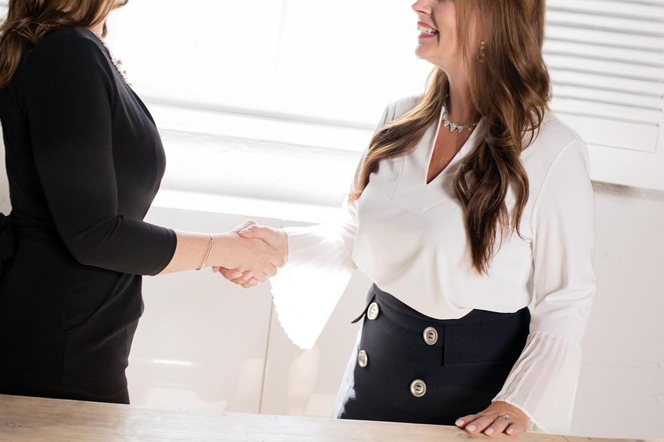 インタビュー, 契約, ビジネス, ハンドシェイク, 雇用, パートナーシップ, コラボレーション, 候補者