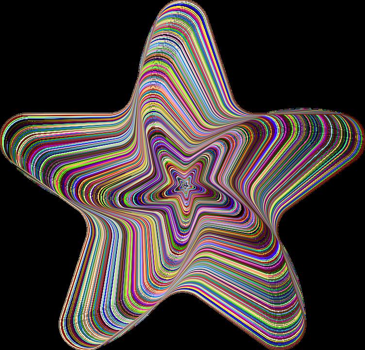 Star, Line Art, Geometric, Decorative, Ornamental