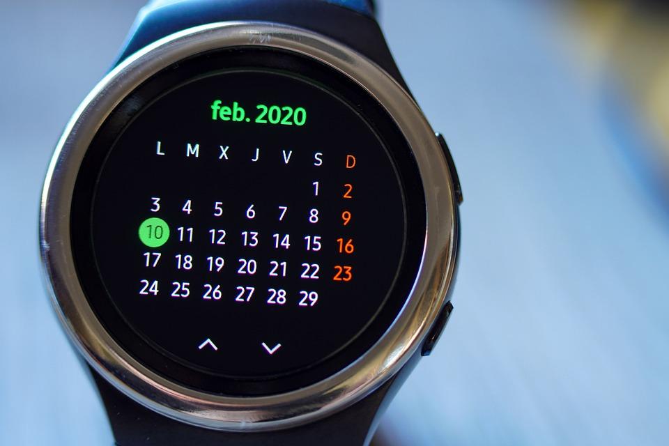 Kalender, Uhr, Zeit, Technologie, Smartwatch