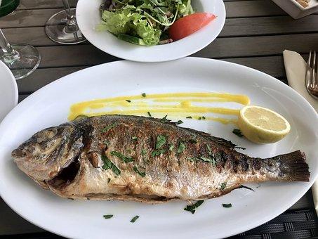 Sea Bream, Grilled, Fish, Lemon, Food