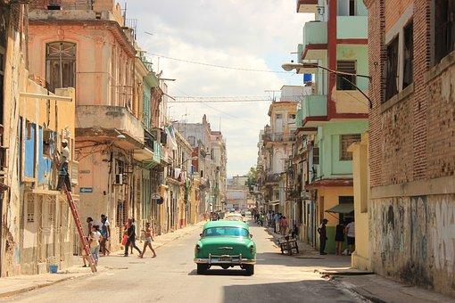 Куба, Путешествия, Автомобиль, Город
