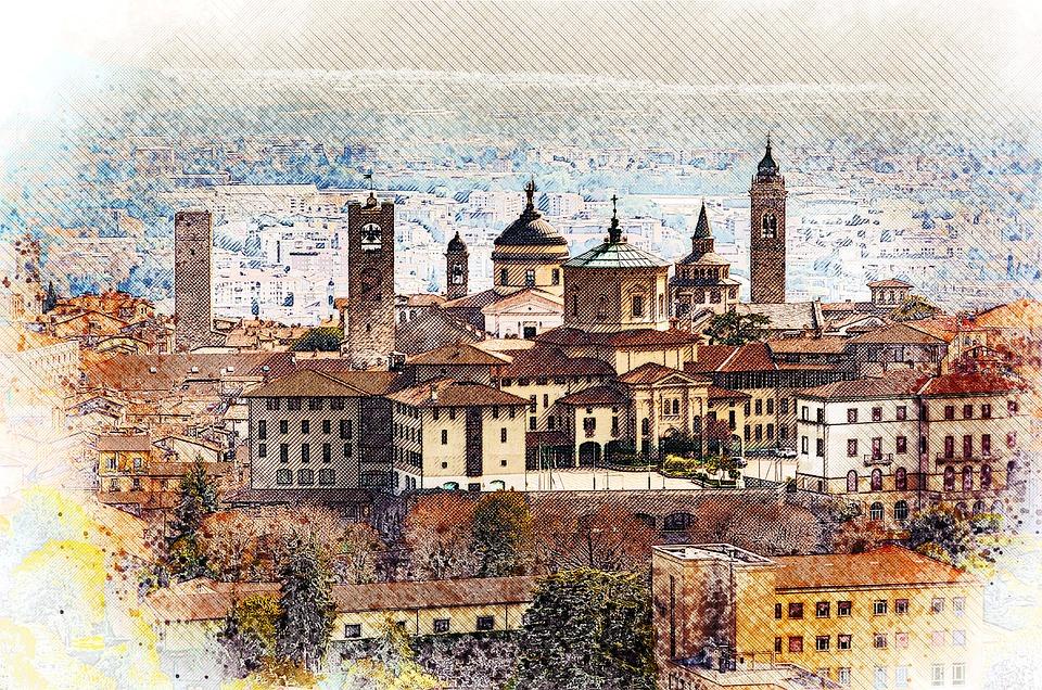Bergamo Di Bergamo, Alta, Kuno, Arsitektur, Bergamo