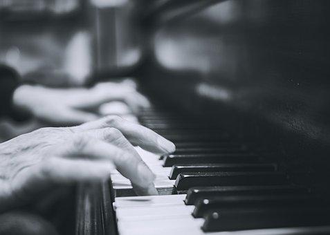 ピアノ, 手, 音楽, ミュージシャン, キーボード, 楽器, 再生, キー