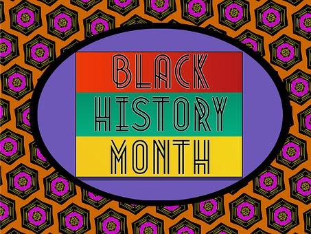 Black History Month, Banner, Purple