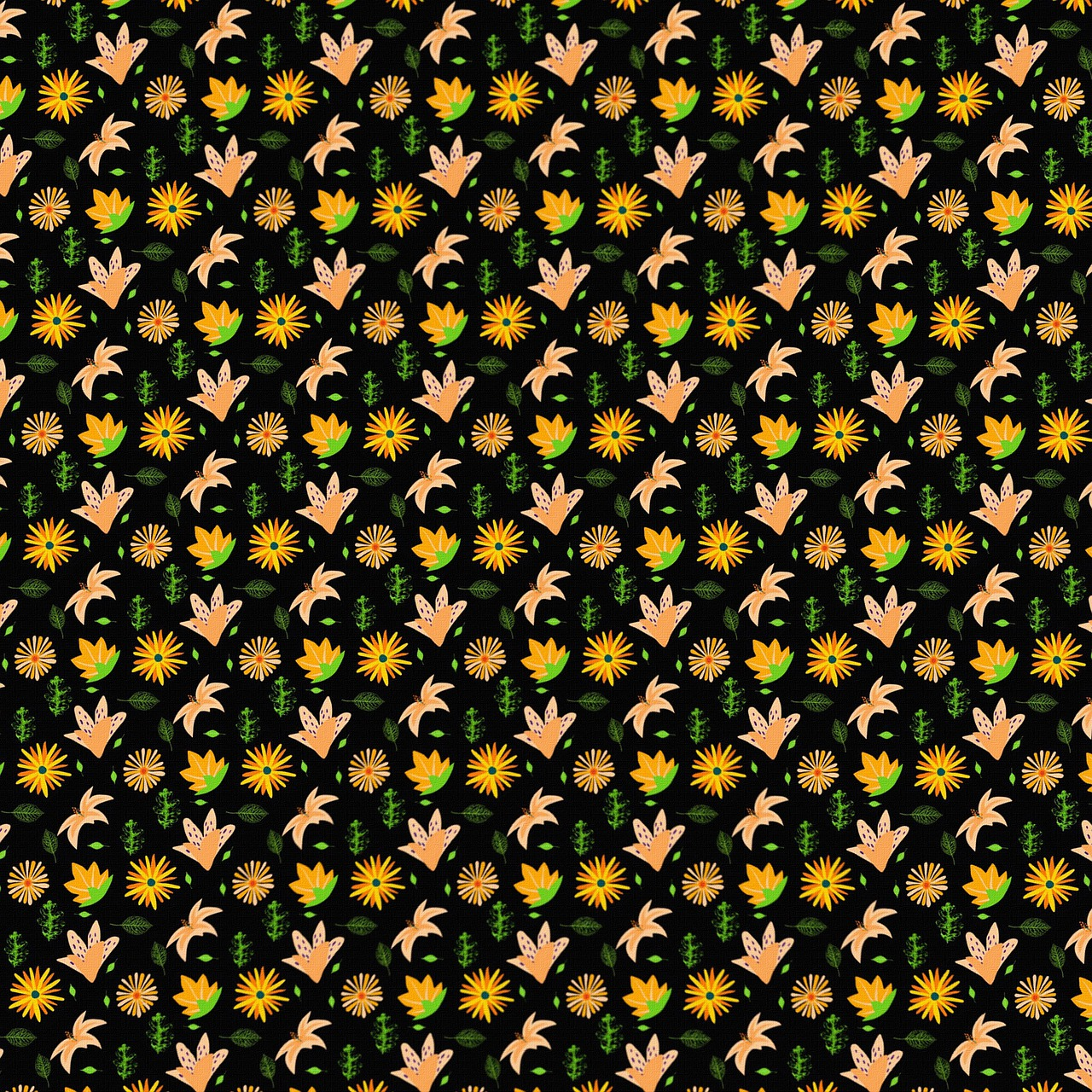Retro Floral Background Flower Free Image On Pixabay