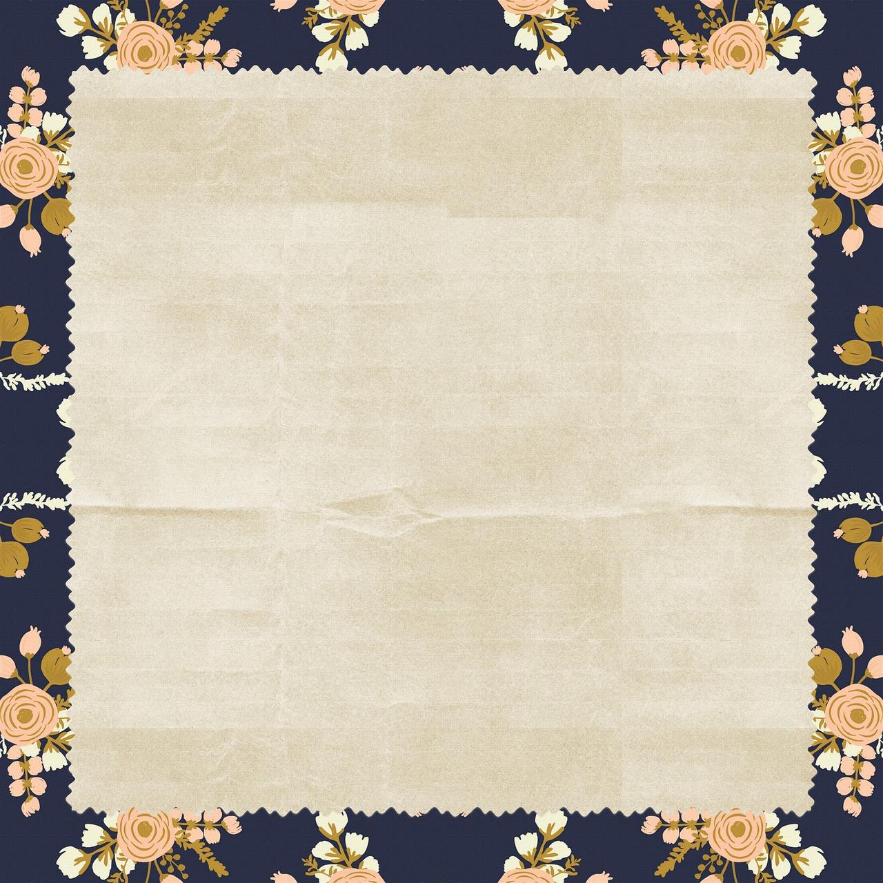 Floral Background Vintage Paper Free Image On Pixabay