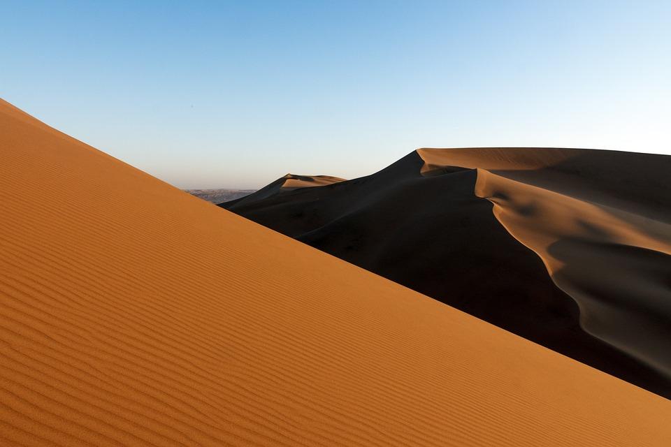 Desert, Sand, Himmel, Tørr, Landskap, Sanddynene, Hot