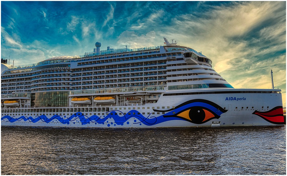 Cruise Ship, Elbe, Hamburg, Cruise, Aida, Port, Ship